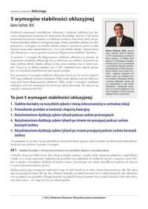 AD_5 wymogów stabilności okluzyjnej